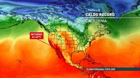 caldo record in california a los angeles si sfiorano i 40 gradi news meteo it. Black Bedroom Furniture Sets. Home Design Ideas