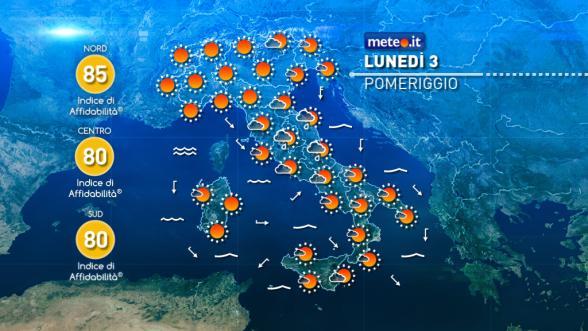 Meteo Italia del 3 ottobre: fronte freddo lungo l'Adriatico Previsioni | METEO.IT