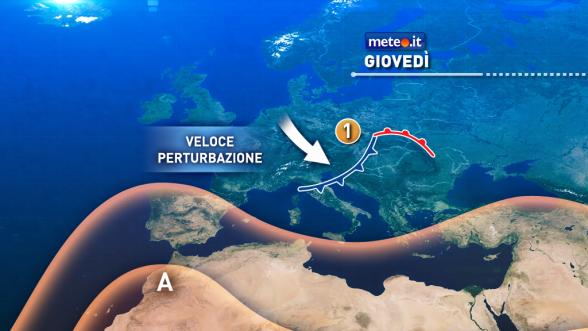 Meteo Italia del 3 novembre: giovedì piogge al Centro-Sud Previsioni | METEO.IT