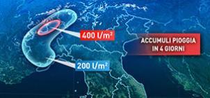 Criticità: 3 mesi di pioggia in pochi giorni al Nord-Ovest
