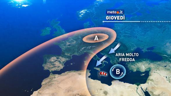 Meteo Italia del 29 dicembre. Oggi ulteriore, forte calo termico. Domani clima invernale Previsioni | METEO.IT