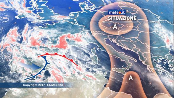 Meteo Italia del 27 gennaio. Tempo in peggioramento all'estremo Nordovest e sulle Isole Previsioni | METEO.IT