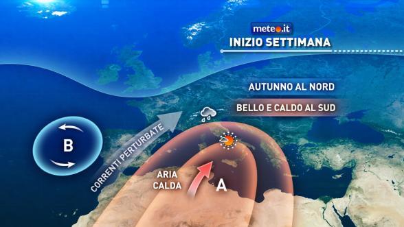 Meteo Italia del 24 ottobre: Italia divisa in due, piogge al Nord e sole al Sud Previsioni | METEO.IT