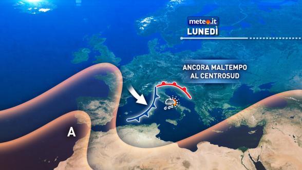 Meteo Italia del 7 novembre: la perturbazione si sposta al Sud Previsioni | METEO.IT