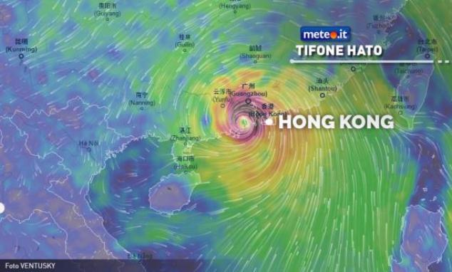Il tifone Hato travolge Hong Kong: allerta massima in città