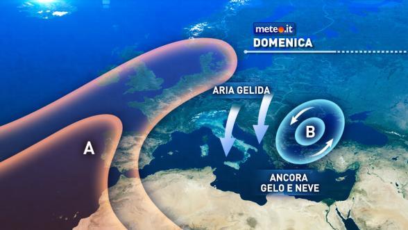 Meteo del 8 gennaio. Venti in indebolimento ma freddo insistente Previsioni