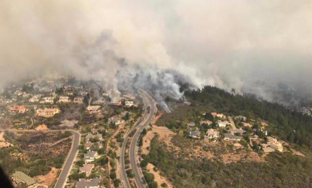 Incendio California - Foto ANSA