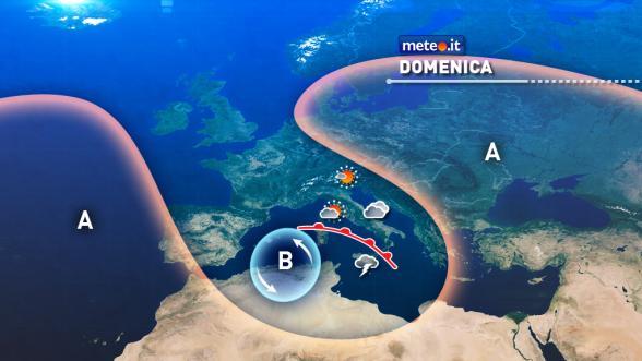 Meteo Italia del 22 gennaio. Domenica piogge forti in Calabria e Sicilia Previsioni | METEO.IT
