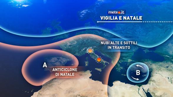 Meteo Italia del 24 dicembre. Vigilia e Natale sotto l'alta pressione Previsioni | METEO.IT