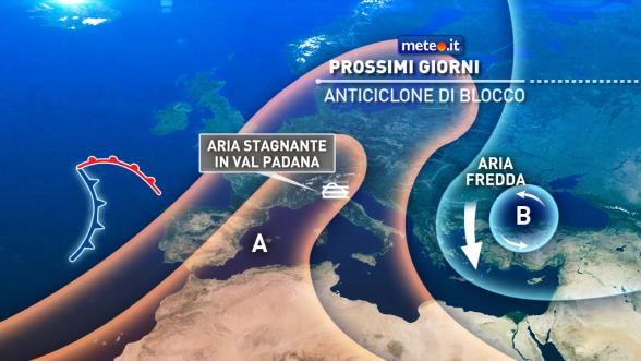 Meteo Italia del 13 dicembre. Alta pressione in rinforzo: nebbie e smog in Val Padana Previsioni | METEO.IT