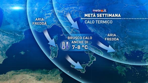 Meteo Italia: tendenza dal 8 novembre. Crollo delle temperature Previsioni | METEO.IT