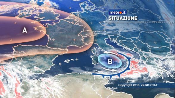 Meteo Italia del 27 ottobre: vortice ciclonico e tracollo termico al Sud. Migliora al Centro-Nord Previsioni | METEO.IT