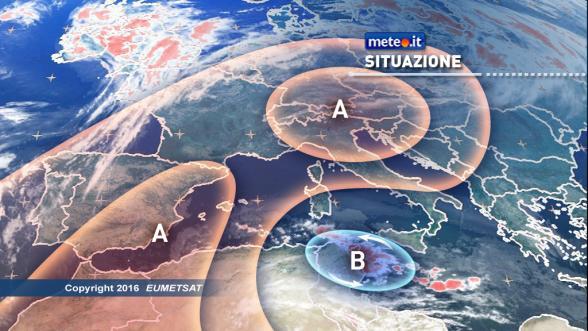 Previsioni meteo per il weekend: nuvole e piovaschi