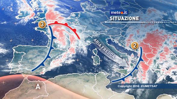 Meteo Italia del 9 novembre: mercoledì apice del freddo Previsioni | METEO.IT