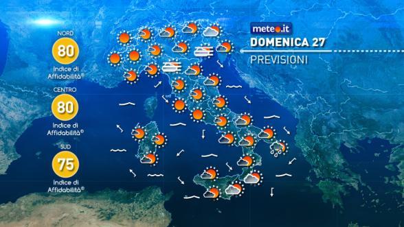 Meteo Italia del 26 novembre: nel weekend fine del maltempo ma poi arriva l'inverno Previsioni | METEO.IT