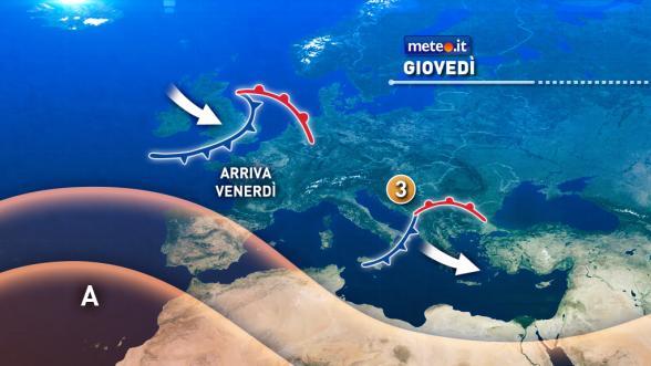Meteo Italia del 10 novembre: via vai di perturbazioni Previsioni | METEO.IT