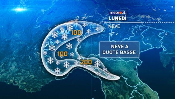 Meteo Italia del 19 dicembre. Forte maltempo e neve in pianura Previsioni   METEO.IT