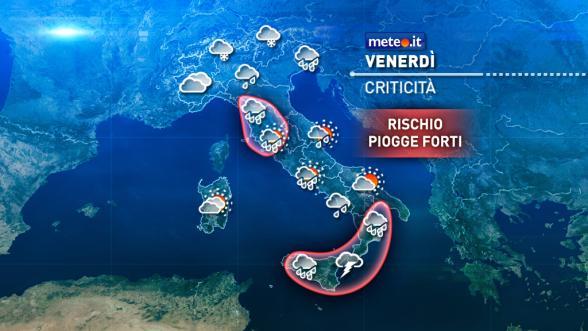 Meteo Italia del 18 novembre: venerdì maltempo con forti piogge Previsioni | METEO.IT